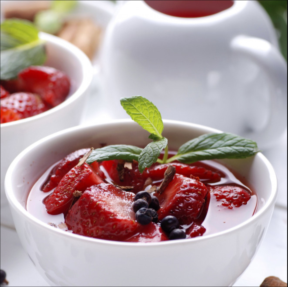 Soupe de fruits à l'ail